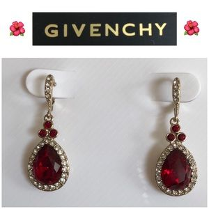 Givenchy Red Stone Drop earrings